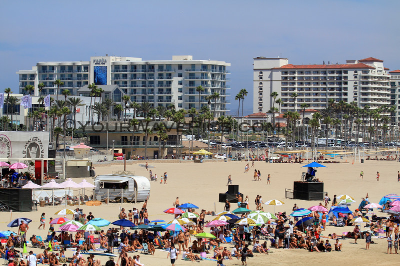 2019-08-02_US Open_E_29.JPG<br /> The changing skyline of HB with several new hotel towers and Pacific City<br /> US Open of Surfing 2019
