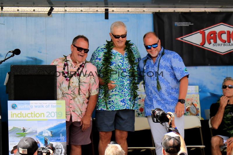 2019-08-01_Walk of Fame_3_PT_Art Brewer_John Etheridge.JPG<br /> 2019 Surfing Walk of Fame Induction