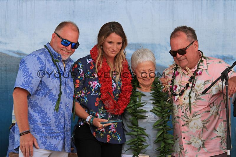 2019-08-01_Walk of Fame_41_John Etheridge_Courtney Conlogue_Linda Benson_PT.JPG<br /> 2019 Surfing Walk of Fame Induction