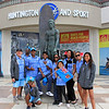 2018-10-27_Vissla World Juniors_Fiji_2.JPG<br /> Vissla ISA World Junior Surfing Championship 2018 - Opening Ceremony<br /> <br /> Team Fiji with Duke Kahanamoku statue