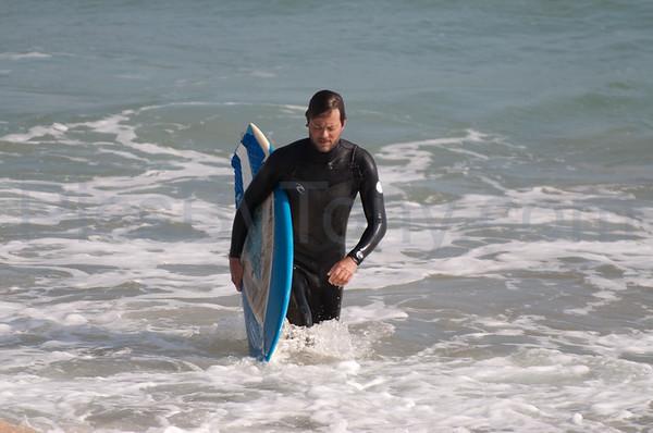 Folks Surfing at Pier in  Flagler Beach, FL on 01/01/2013