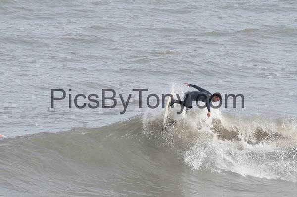 Folks Surfing at Pier in  Flagler Beach, FL on 01/20/2013