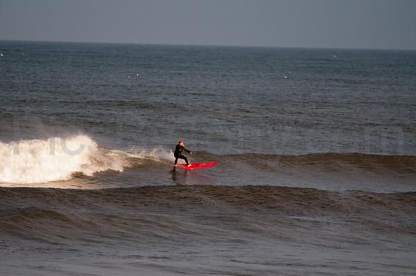 Folks Surfing at Pier in  Flagler Beach, FL on 02/26/2013