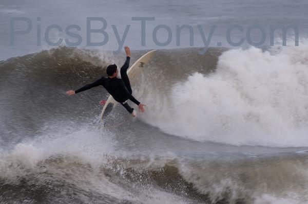 Folks Surfing at Pier in  Flagler Beach, FL on 03/12/2013