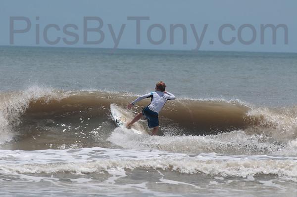 Folks Surfing at Pier in  Flagler Beach, FL on 06/07/2013
