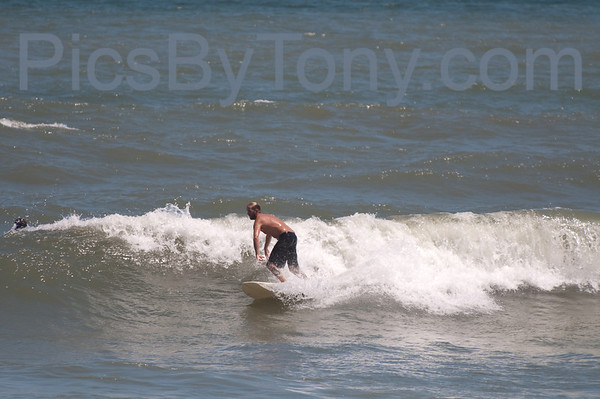 Folks Surfing at Pier in  Flagler Beach, FL on 08/27/2013 after 1:30pm