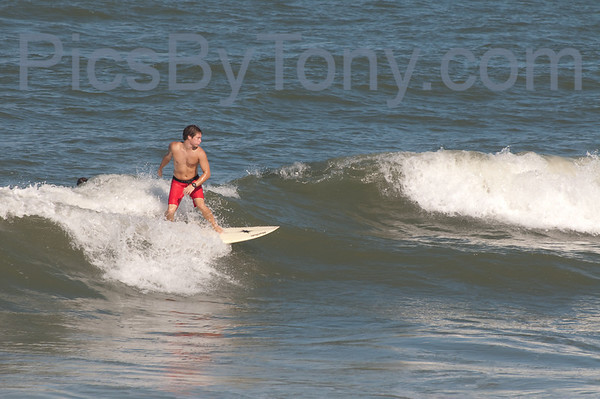 Folks Surfing at Pier in  Flagler Beach, FL on 08/27/2013 after 5pm