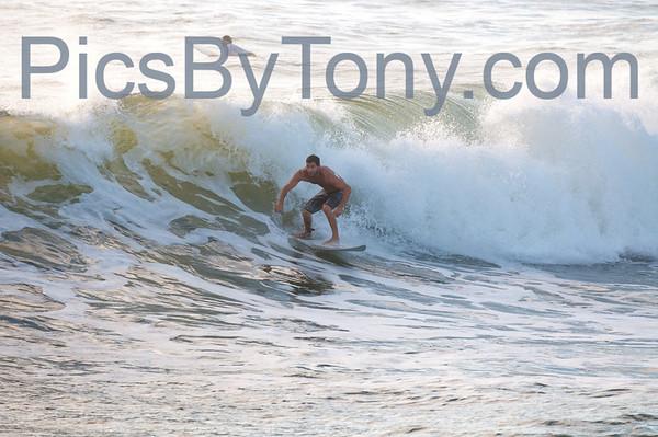 Folks Surfing at Pier in  Flagler Beach, FL on 09/20/2013