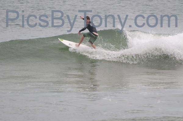 Folks Surfing at Northside of Pier in  Flagler Beach, FL on 09/25/2013