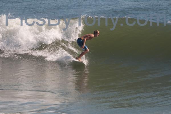Folks Surfing at Northside of Pier in  Flagler Beach, FL on 10/11/2013
