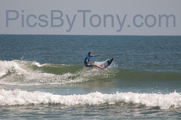 Folks Surfing at Southside of Pier in  Flagler Beach, FL on 10/13/2013
