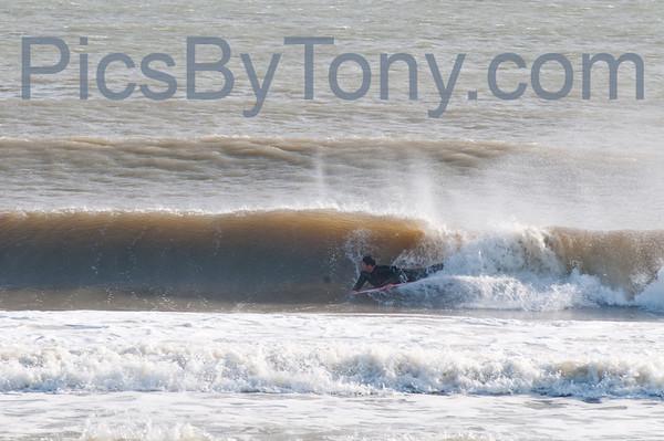 Folks Surfing at Southside of Pier in  Flagler Beach, FL on 11/27/2013