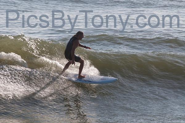 Folks Surfing at Pier in Flagler Beach, FL on 12/09/2013