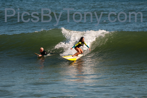 Folks Surfing at Pier in Flagler Beach, FL on 12/21/2013