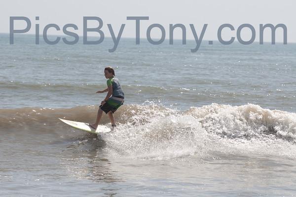Surfers @ 17th N A1A  Flagler Beach, FL Aug. 11, 2013