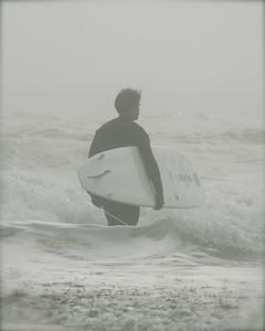 Ricky J. wades thru liquid fog.