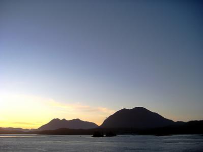 Tofino at sunset