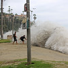2021-08-18_Aliso_15.JPG<br /> A Southern-Hemi swell plus Hurricane Linda sent waves into the parking lot at Aliso Beach