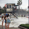 2021-08-18_Aliso_21.JPG<br /> A Southern-Hemi swell plus Hurricane Linda sent waves into the parking lot at Aliso Beach