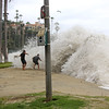 2021-08-18_Aliso_16.JPG<br /> A Southern-Hemi swell plus Hurricane Linda sent waves into the parking lot at Aliso Beach