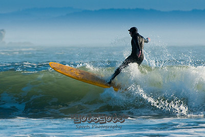 Long Board Riding @ Garth's 01-18-09