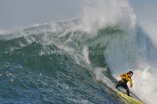12 January 2008: Action during the 2008 Mavericks Surf Contest in Half Moon Bay, CA.