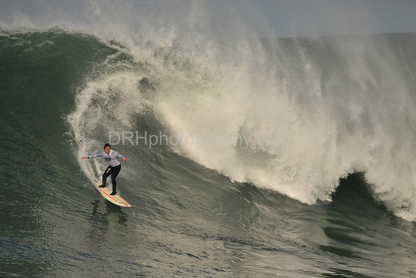 12 January 2008: Ross Clarke-Jones during Heat 3 of the 2008 Mavericks Surf Contest in Half Moon Bay, CA.