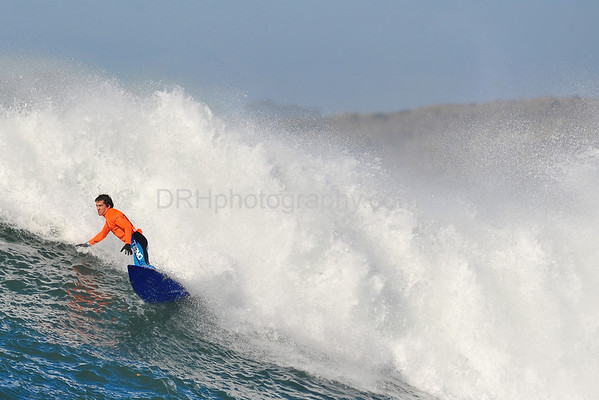 12 January 2008: Champion Greg Long during the finals of the 2008 Mavericks Surf Contest in Half Moon Bay, CA.