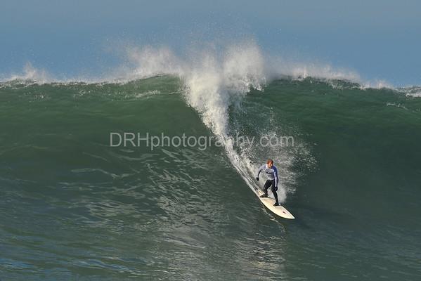 12 January 2008: Evan Slater during the 2008 Mavericks Surf Contest in Half Moon Bay, CA.