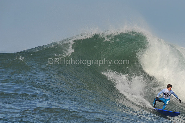 12 January 2008: Champion Greg Long during the semifinals of the 2008 Mavericks Surf Contest in Half Moon Bay, CA.