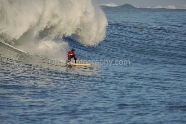 12 January 2008: Ryan Seelbach during Heat 3 of the 2008 Mavericks Surf Contest in Half Moon Bay, CA.