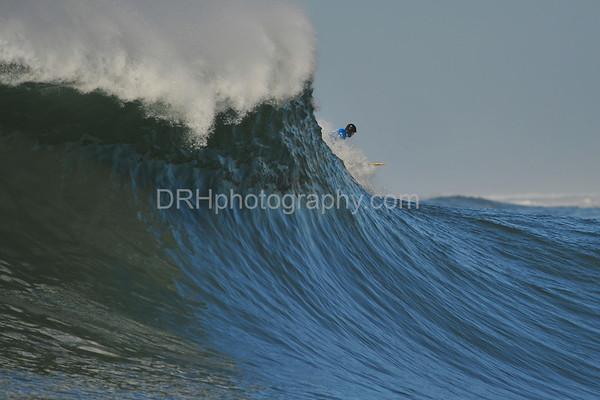 12 January 2008: Peter Mel during Heat 4 of the 2008 Mavericks Surf Contest in Half Moon Bay, CA.