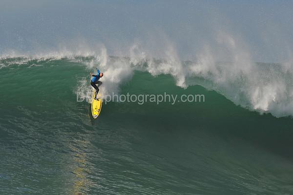 12 January 2008: Tyler Smith  during the 2008 Mavericks Surf Contest in Half Moon Bay, CA.