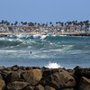 2021-08-19_Lower Jetties from 53rd St._E25.JPG<br /> A Southern-Hemi swell plus a touch of Hurricane Linda swell brought big surf to Newport's Lower Jetties.  Looking south from 53rd St.