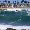 2021-08-19_Lower Jetties from 53rd St._E19.JPG<br /> A Southern-Hemi swell plus a touch of Hurricane Linda swell brought big surf to Newport's Lower Jetties.  Looking south from 53rd St.