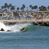 2021-08-19_Lower Jetties from 53rd St._E9.JPG<br /> A Southern-Hemi swell plus a touch of Hurricane Linda swell brought big surf to Newport's Lower Jetties.  Looking south from 53rd St.