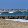 2021-08-19_Lower Jetties from 53rd St._50.JPG<br /> A Southern-Hemi swell plus a touch of Hurricane Linda swell brought big surf to Newport's Lower Jetties.  Looking south from 53rd St.