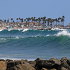 2021-08-19_Lower Jetties from 53rd St._E18.JPG<br /> A Southern-Hemi swell plus a touch of Hurricane Linda swell brought big surf to Newport's Lower Jetties.  Looking south from 53rd St.