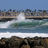 2021-08-19_Lower Jetties from 53rd St._E13.JPG<br /> A Southern-Hemi swell plus a touch of Hurricane Linda swell brought big surf to Newport's Lower Jetties.  Looking south from 53rd St.