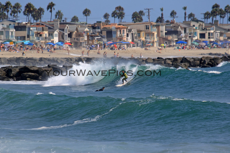 2021-08-19_Lower Jetties from 53rd St._G37.JPG<br /> A Southern-Hemi swell plus a touch of Hurricane Linda swell brought big surf to Newport's Lower Jetties.  Looking south from 53rd St.