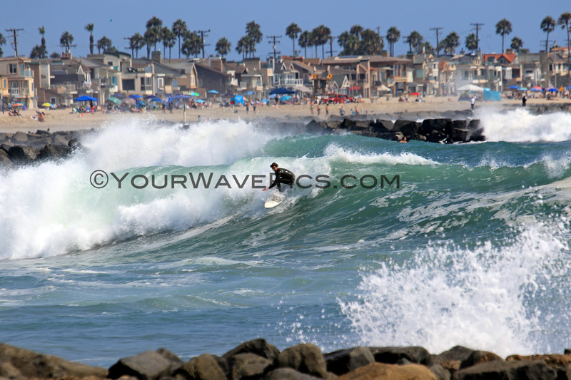 2021-08-19_Lower Jetties from 53rd St._P26.JPG<br /> A Southern-Hemi swell plus a touch of Hurricane Linda swell brought big surf to Newport's Lower Jetties.  Looking south from 53rd St.