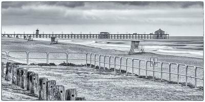 dog beach pier high key
