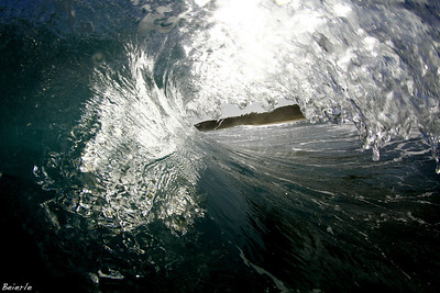 Inside a wave in Puerto Rico