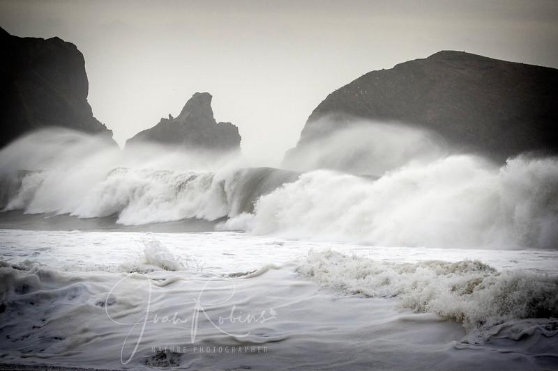 Foam, Spray, Rocks, Waves