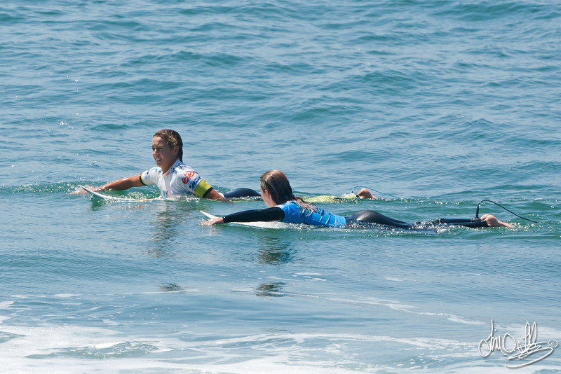 Sally Fitzgibbons & Rebecca Woods<br /> Nike US Open of Surfing 2011