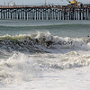 2018-12-18_Seal Beach SS_Daniel_Hughes_7.JPG<br /> <br /> A big WNW swell hit North Orange County Tuesday.  A peaky shore break brought out the crowds south of the Seal Beach Pier.