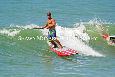 Some paddle boarding