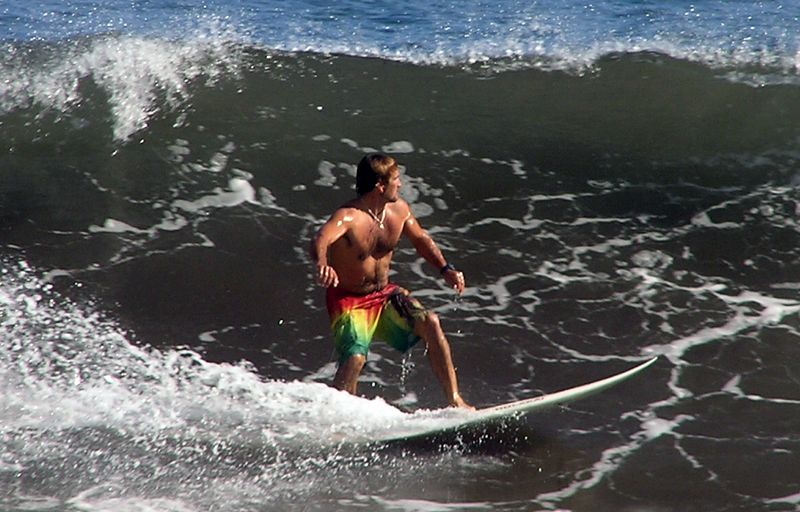 Surfer at Kolekole
