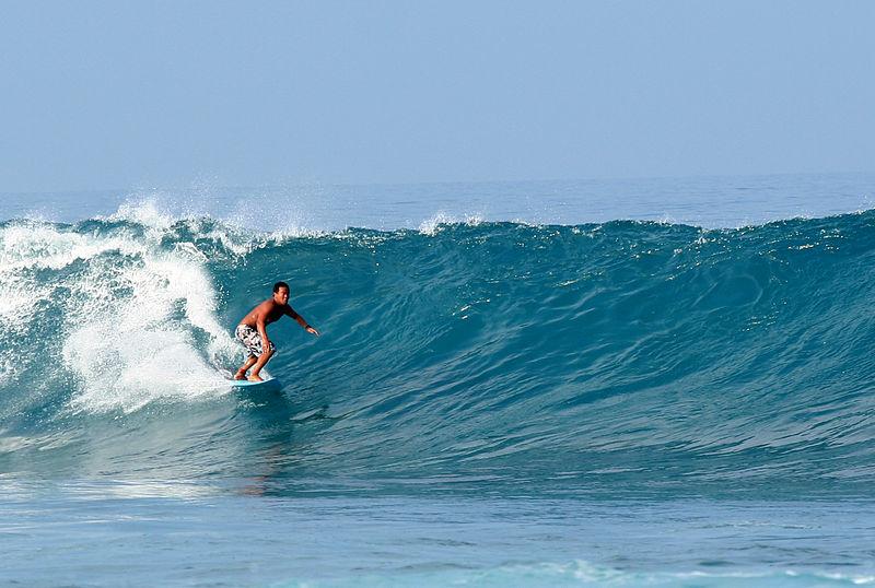 Surfer at Puako