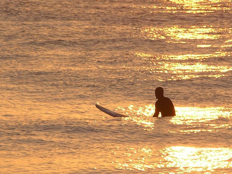 Surfer at Dawn